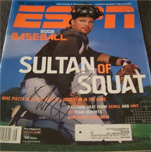 Mike Piazza autographed New York Mets 2002 ESPN Magazine