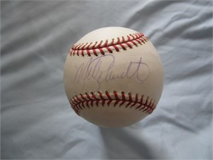 Mike Schmidt autographed National League baseball (faded)