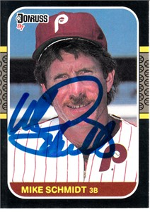 Mike Schmidt autographed Philadelphia Phillies 1987 Donruss card