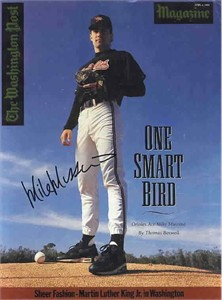 Mike Mussina autographed Baltimore Orioles magazine cover