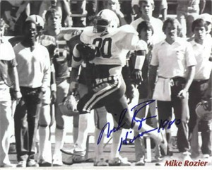 Mike Rozier autographed 8x10 Nebraska photo inscribed Heisman 1983