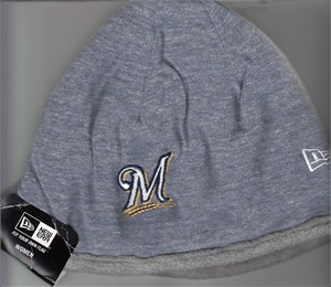 Milwaukee Brewers women's New Era gray reversible beanie cap or hat BRAND NEW WITH TAGS