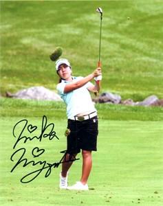 Mika Miyazato autographed 8x10 golf photo