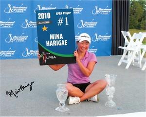 Mina Harigae autographed LPGA 8x10 photo
