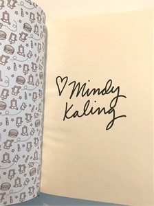 Mindy Kaling autographed Why Not Me? hardcover book