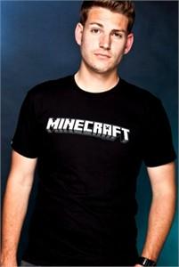 Minecraft logo black T-shirt size adult XL BRAND NEW