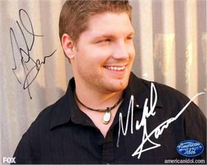 Michael Sarver autographed 2009 American Idol 8x10 photo