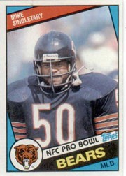 Mike Singletary Chicago Bears 1984 Topps card #232