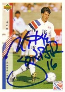 Mike Sorber autographed U.S. Soccer 1994 Upper Deck card