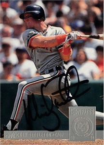 Mickey Tettleton autographed Detroit Tigers 1993 Pinnacle card