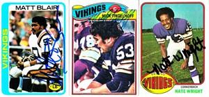 Mick Tingelhoff autographed Minnesota Vikings 1977 Topps card