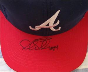 Michael Tucker autographed Atlanta Braves replica cap or hat