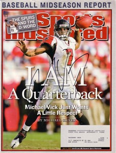 Michael Vick autographed Atlanta Falcons 2005 Sports Illustrated