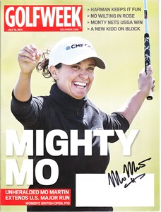 Mo Martin autographed 2014 Women's British Open Golfweek magazine
