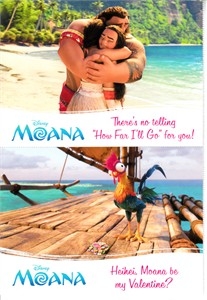 Moana movie set of 2 Disney promo postcards