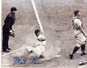 Monte Irvin autographed New York Giants 8x10 photo (sliding home)