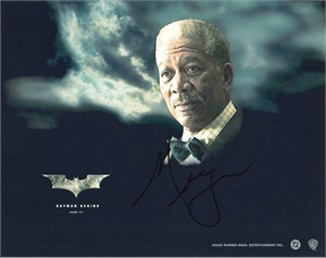 Morgan Freeman autographed Batman Begins 8x10 photo
