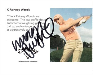 Morgan Pressel autographed 2006 Callaway promo golf Rookie Card