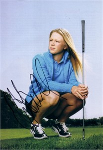 Morgan Pressel autographed golf magazine full page photo