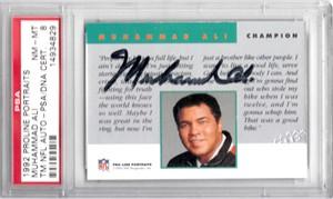 Muhammad Ali certified autograph 1992 Pro Line card PSA/DNA PSA 8