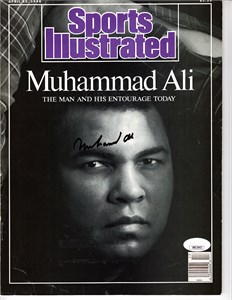 Muhammad Ali autographed 1988 Sports Illustrated