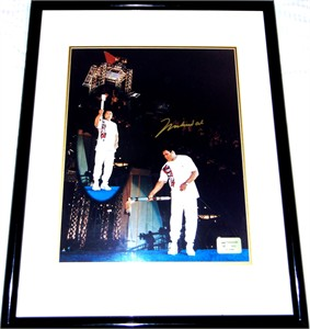 Muhammad Ali autographed 1996 Olympic Torch 16x20 poster size photo matted & framed ltd. edit. 1996