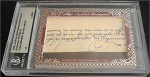 Muhammad Ali & Laila Ali certified autograph 2012 Leaf Executive Masterpiece Dual Cut Signature card #1/1