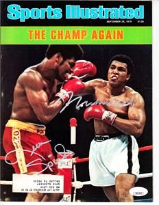 Muhammad Ali & Leon Spinks autographed 1978 Sports Illustrated