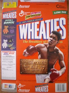 Muhammad Ali The Greatest 1999 commemorative Wheaties box
