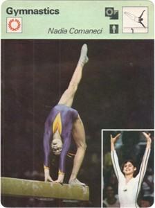 Nadia Comaneci 1977 Sportscaster card