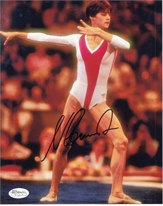 Nadia Comaneci autographed 1976 Olympics 8x10 photo (PSA/DNA)