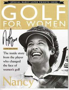 Nancy Lopez autographed Golf for Women Tribute magazine