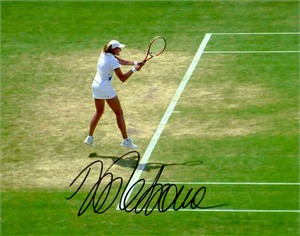 Nadia Petrova autographed 8x10 Wimbledon tennis photo
