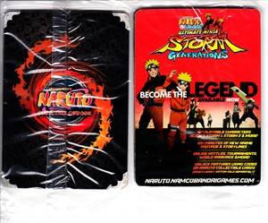 Naruto Ultimate Ninja Storm Generations CCG trading cards 2012 promo pack SEALED