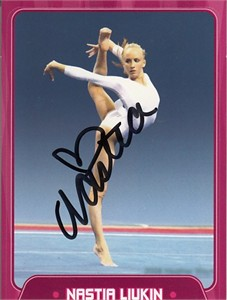 Nastia Liukin autographed 2010 Sports Illustrated for Kids gymnastics card