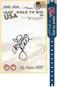 Nastia Liukin autographed 2015-2016 Team USA Road to Rio U.S. Olympic Team card