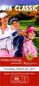 Natalie Gulbis autographed 2011 LPGA Kia Classic pairings guide