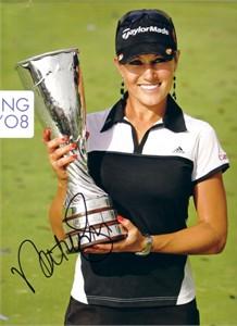 Natalie Gulbis autographed 2008 official golf calendar