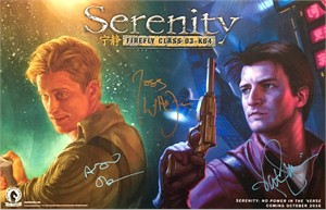 Nathan Fillion Alan Tudyk Joss Whedon autographed Serenity 2016 Comic-Con poster