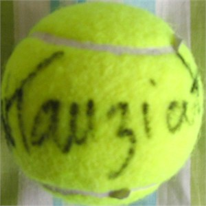 Natalie Tauziat autographed tennis ball