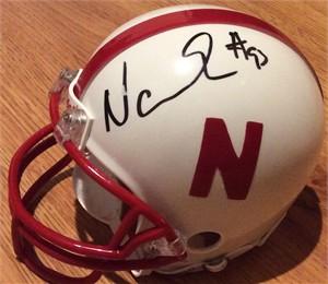 Ndamukong Suh autographed Nebraska Cornhuskers mini helmet