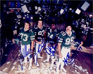 Mark Gastineau Joe Klecko Marty Lyons Abdul Salaam autographed New York Sack Exchange 8x10 photo