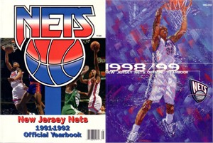 New Jersey Nets 1991-92 & 1998-99 Yearbooks