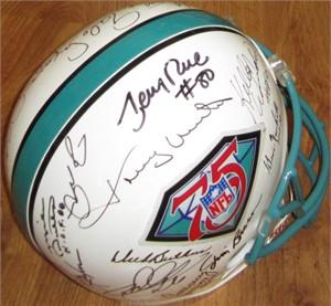 NFL 75th Anniversary Team autographed full size helmet (Lance Alworth Jim Brown Dick Butkus Joe Montana Jerry Rice Johnny Unitas)