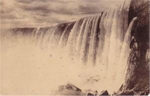 Niagara Falls vintage black & white 1900s postcard