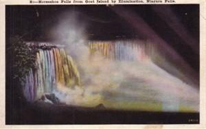 Niagara Horseshoe Falls vintage 1920s postcard