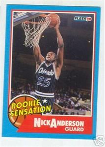 Nick Anderson Magic 1990-91 Fleer Rookie Sensation insert card #7