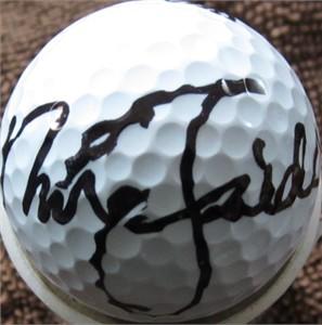 Nick Faldo autographed golf ball