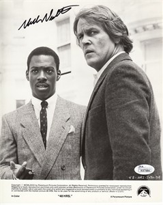 Nick Nolte autographed 48 HRs original 8x10 black & white publicity photo (JSA)