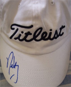 Nick Watney autographed Titleist golf cap or hat